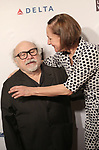 Danny DeVito and Laurie Metcalf attends the 83rd Annual Drama League Awards Ceremony  at Marriott Marquis Times Square on May 19, 2017 in New York City.