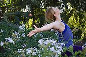 Stock photo of beautiful woman enjoying nature