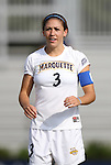 07 September 2012: Marquete's Ally Miller. The University of North Carolina Tar Heels defeated the Marquette University Golden Eagles 4-0 at Koskinen Stadium in Durham, North Carolina in a 2012 NCAA Division I Women's Soccer game.