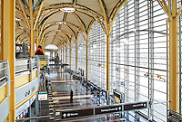Interior view of the terminal. Ronald Reagan Washington National Airport is located in Arlington Virginia just across the Potomac River from Washington DC