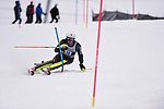 FRANCONIA, NH - MARCH 10:   William St. Germain of the University of Vermont competes during the Men's Slalom event at the Division I Men's and Women's Skiing Championships held at Cannon Mountain on March 10, 2017 in Franconia, New Hampshire. (Photo by Gil Talbot/NCAA Photos via Getty Images)