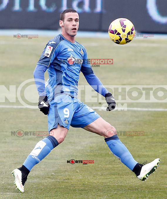 Getafe's Alvaro Vazquez during La Liga match.January 18,2013. (ALTERPHOTOS/Acero) /NortePhoto<br />