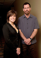 UWRF McNair Scholar, Cassandra Saunders,left, with faculty mentor, John Wheeler <br /> Biology, College of Arts and Sciences