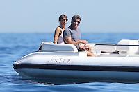 Sylvester Stallone & family  enjoy water sports in Saint-Jean-Cap-Ferrat - France