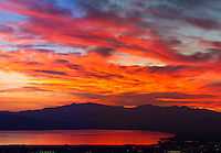 Late summer sunset over Utah Lake.
