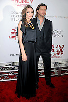 Angelina Jolie and Brad Pitt at the New York Premiere of Angelina Jolie's In The Land of Blood and Honey at the SVA Theater in New York City. December 5, 2011. © mpi01/Media Punch Inc