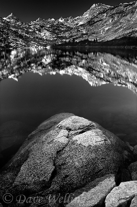 742900286bw A tranquil sunrise on the eastern sierras and lake sabrina in the eastern sierras of central california take on a stark appearance when rendered in black and white