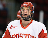 Ryan Ruikka (BU - 2) - The visiting Merrimack College Warriors tied the Boston University Terriers 1-1 on Friday, November 12, 2010, at Agganis Arena in Boston, Massachusetts.