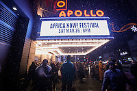 People walks after a event to commemorate Martin Luther King's day at the Apollo Theater in New York. 17.01.2016. Kena Betancur/VIEWpress.