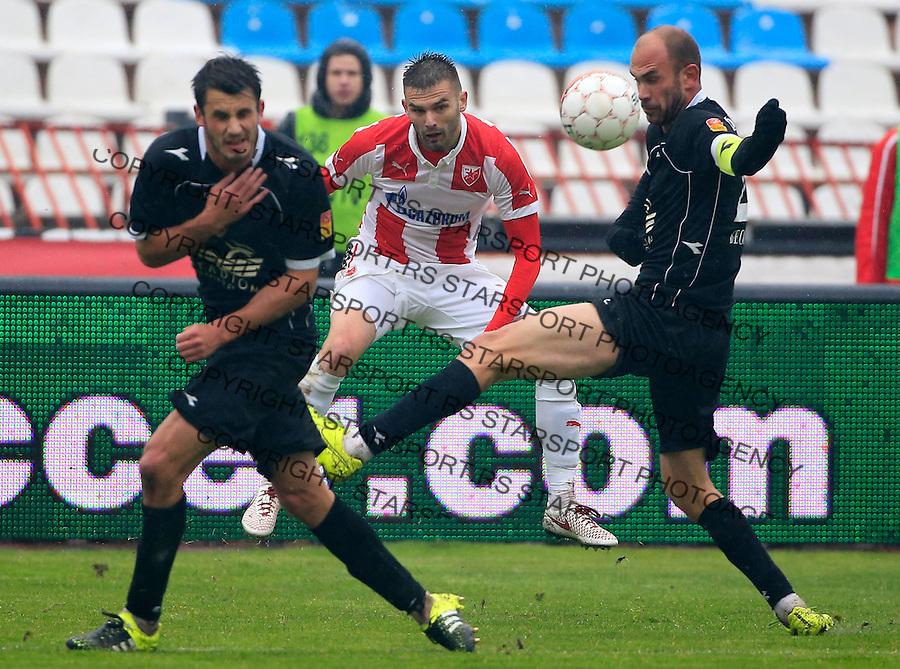 Fudbal Jelen Super League season 2015-2016<br /> Crvena Zvezda v Vozdovac<br /> Marko Petkovic (C) Milos Pavlovic (R)<br /> Beograd, 28.11.2015.<br /> foto: Srdjan Stevanovic/Starsportphoto&copy;
