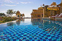 This is the view from the pool outside one of the magnificent pool rooms at the Oberoi Udaivilas.<br /> (Photo by Matt Considine - Images of Asia Collection)