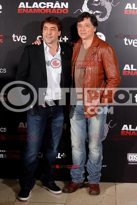 Spanish actors Javier Bardem and Carlos Bardem attend the 'Alacran Enamorado' photocall at the Princesa cinema in Madrid, Spain. April 09, 2013. (ALTERPHOTOS/Caro Marin) /NortePhoto