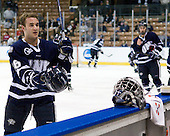 John Henrion (UNH - 16) - The University of Notre Dame Fighting Irish defeated the University of New Hampshire Wildcats 2-1 in the NCAA Northeast Regional Final on Sunday, March 27, 2011, at Verizon Wireless Arena in Manchester, New Hampshire.