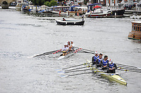 Henley, GREAT BRITAIN, Queen Mother Challenge Cup,  EST M4X, RC Viljandi and RC Narva Energia, Estonia,  2008 Henley Royal Regatta, on  Sunday, 06/07/2008,  Henley on Thames. ENGLAND. [Mandatory Credit:  Peter SPURRIER / Intersport Images] Rowing Courses, Henley Reach, Henley, ENGLAND . HRR