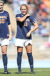 20 October 2013: Virginia's Brittany Ratcliffe. The University of North Carolina Tar Heels hosted the University of Virginia Cavaliers at Fetzer Field in Chapel Hill, NC in a 2013 NCAA Division I Women's Soccer match. Virginia won the game 2-0.