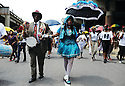 """Jazz Funeral for Treme Brass Band bass drummer """"Uncle"""" Lionel Batiste, 2012"""