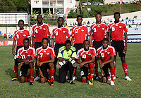 Trinidad & Tobago line up during the group stage of the CONCACAF Men's Under 17 Championship at Jarrett Park in Montego Bay, Jamaica. Trinidad & Tobago defeated Guatemala, 1-0.