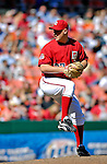 16 September 2007: Washington Nationals pitcher Mike Bacsik on the mound against the Atlanta Braves at Robert F. Kennedy Memorial Stadium in Washington, DC. The Braves shut out the Nationals 3-0 in the third game of their 3-game series...Mandatory Photo Credit: Ed Wolfstein Photo
