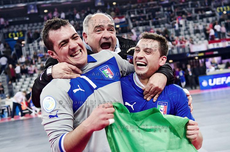 ZAGABRIA - CROAZIA 11/02/2012 - CALCIO A 5 EURO FUTSAL 2012. FINALE PER IL TERZO POSTO VINTA DALL'ITALIA SULLA CROAZIA PER 3 A 1. STEFANO MAMMARELLA SAAD ASSIS ITALIA FOTO DILORETO