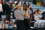 20 November 2016: Officials Linda Miles (right) and Daryl Humphrey (left). The University of North Carolina Tar Heels hosted the Bucknell University Bisons at Carmichael Arena in Chapel Hill, North Carolina in a 2016-17 NCAA Women's Basketball game. UNC won the game 65-50.