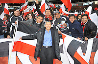 D.C. United General Partner Will Chang with fans. D.C. United tied The Houston Dynamo 1-1 but lost in the overall score 4-2 in the second leg of the Eastern Conference Championship at RFK Stadium, Sunday November 18, 2012.