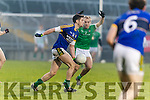 Paul Geaney Kerry in action against Sean O'Dea Limerick in the Final of the McGrath Cup at the Gaelic Grounds on Sunday.