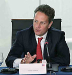 "Washington - 7/24/20 - US Treasury Secretary Timothy Geithner at an economic forum in DC Saturday. Copyright 2010 by Marty Katz. All rights reserved. Call  for clearance prior to use. Required adjacent credit: ""DC Photographer Marty Katz"" linked to http://washingtonphotographer.com"