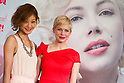 "March 14, 2012, Tokyo, Japan - Japanese model Maki Nishiyama (left) and U.S. actress Michelle Williams (right) attends the press conference for the film, ""My Week with Marilyn."" The movie will be released in Japan cinemas on March 24. (Photo by Christopher Jue/AFLO)"