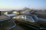 October, 1980. Nagoya, Japan. Giant exportation of Toyota cars, soon to arrive in the U.S.