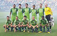 Seattle Sounder starting line up for the game between LA Galaxy and the Seattle Sounders at the Home Depot Center in Carson, CA, on July 4, 2010. LA Galaxy 3, Seattle Sounders 1.