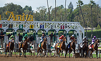 ARCADIA, CA APRIL 8: The Start of the Santa Anita Oaks (Grade 1) on April 8, 2017 at Santa Anita Park in Arcadia, CA.Photo by Casey Phillips/Eclipse Sportswire/Getty Images)