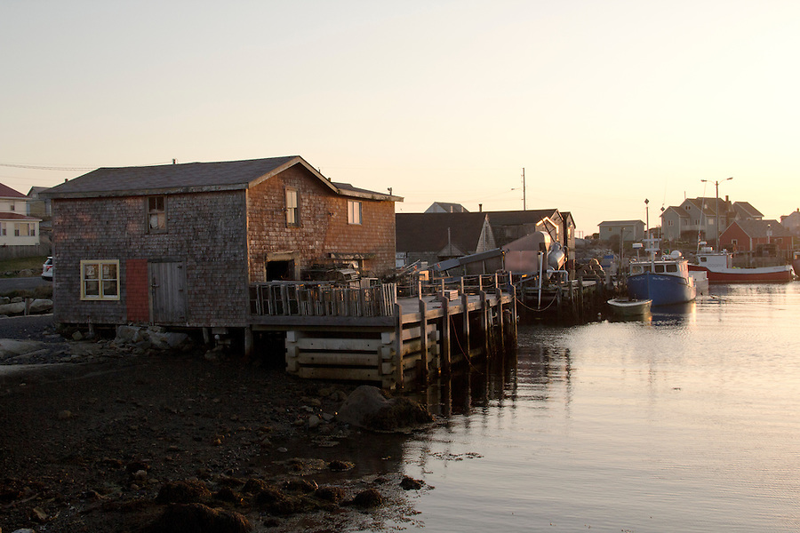 Docks and boats at Peggy's Cove Nova Scotia