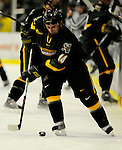 1 December 2007: University of Vermont Catamounts' forward Brian Roloff, a Sophomore from West Seneca, NY, in action against the Providence College Friars at Gutterson Fieldhouse in Burlington, Vermont. The Friars defeated the Catamounts 4-0 in front of a capacity crowd of 4003, for the 64th consecutive sell-out at Gutterson...Mandatory Photo Credit: Ed Wolfstein Photo