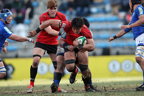 Kazuki Himeno (Teikyo),<br /> JANUARY 9, 2017 - Rugby : All-Japan University Rugby Championship Final match between Teikyo University 33-26 Tokai University at Prince Chichibu Memorial Stadium in Tokyo, Japan. (Photo by AFLO SPORT)