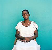 Local woman from a Voodoo ceremony, Port-Au-Prince, Haiti