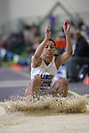 12 MAR 2011: Melissa Norville of Illinois College triple jumps during the Division III Men's and Women's Indoor Track and Field Championships held at the Capital Center Fieldhouse on the Capital University campus in Columbus, OH.  Jay LaPrete/NCAA Photos