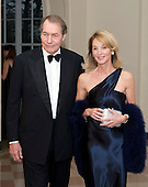 Charlie Rose and Amanda Burden arrive for the Official Dinner in honor of Prime Minister David Cameron of Great Britain and his wife, Samantha, at the White House in Washington, D.C. on Tuesday, March 14, 2012..Credit: Ron Sachs / CNP.(RESTRICTION: NO New York or New Jersey Newspapers or newspapers within a 75 mile radius of New York City)
