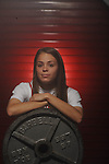 Lafayette High weightlifter Mary Catherine Pate on Thursday, April 7, 2011.