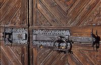 Europe/Suisse/Engadine/St-Moritz: Musée de l'Engadine - Détail porte