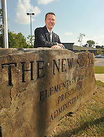 NWA Democrat-Gazette/MICHAEL WOODS &bull; @NWAMICHAELW<br /> Dennis Chapman, Head of The New School in Fayetteville, on the schools campus Tuesday September 1, 2015.