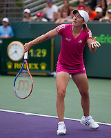 Justine HENIN (BEL) against Dominika CIBULKOVA (SVK) in the third round of the women's singles. Henin beat Cibulkova 6-4 6-4..International Tennis - 2010 ATP World Tour - Sony Ericsson Open - Crandon Park Tennis Center - Key Biscayne - Miami - Florida - USA - Sun 28th Mar 2010..© Frey - Amn Images, Level 1, Barry House, 20-22 Worple Road, London, SW19 4DH, UK .Tel - +44 20 8947 0100.Fax -+44 20 8947 0117