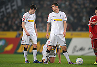 FUSSBALL   1. BUNDESLIGA   SAISON 2011/2012   23. SPIELTAG Borussia Moenchengladbach - Hamburger SV         24.02.2012 Havard Nordtveit (li) und Roman Neustaedter (re, beide Borussia Moenchengladbach)