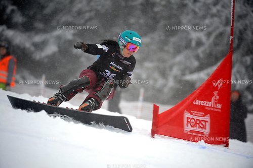Eri Yanetani (JPN), DECEMBER 16, 2014 - Snowboarding : FIS Snowboard World Cup Women's Parallel Giant Slalom in Carezza, Italy. (Photo by Hiroyuki Sato/AFLO) [2016]