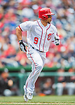 15 May 2016: Washington Nationals outfielder Ben Revere in action against the Miami Marlins at Nationals Park in Washington, DC. The Marlins defeated the Nationals 5-1 in the final game of their 4-game series.  Mandatory Credit: Ed Wolfstein Photo *** RAW (NEF) Image File Available ***