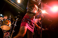 The Nanjing-based punk band Overdose performs in the small YuYinTang rock club in Shanghai, China.