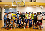 Students from the Tufts Boston campus take part in the Tufts Basketball Association's first Three Point Shootout at the Wang YMCA of Chinatown in Boston. The competition was held to raise money for the YMCA Youths Programs, with donating students invited to compete. (Scott Tingley for Tufts University)