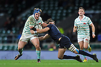 Oliver Clough of Cambridge University takes on the Oxford University defence. The Varsity Match between Oxford University and Cambridge University on December 10, 2015 at Twickenham Stadium in London, England. Photo by: Patrick Khachfe / Onside Images