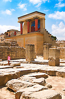 Northern entrance columns at Knossos Minos's Palace