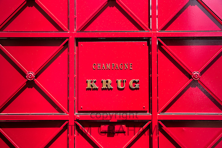 The house of Champagne Krug in rue Coquebert in Reims, Champagne-Ardenne, France
