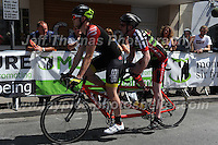 The tandem competitors of the &quot;Para Grand Prix of Wales&quot; race during the Abergavenny Festival of Cycling &quot;Grand Prix of Wales&quot; race on Sunday 17th 2016<br /> <br /> <br /> Jeff Thomas Photography -  www.jaypics.photoshelter.com - <br /> e-mail swansea1001@hotmail.co.uk -<br /> Mob: 07837 386244 -